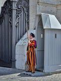 Schweizisk vakt av Vatican City Royaltyfri Bild