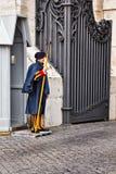 Schweizisk vakt för Vaticanen Arkivbild