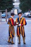 Schweizisk vakt på Vatican City Arkivfoto