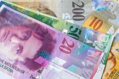 Schweizisk valutasedel royaltyfri bild