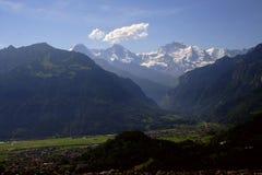 schweiziska alpes Arkivbilder