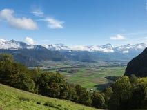 schweiziska alps Arkivfoton