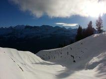 schweiziska alps Arkivfoto