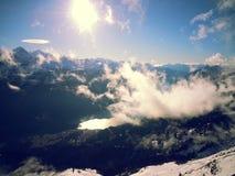 schweiziska alps Nära Interlaken Fotografering för Bildbyråer