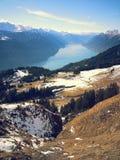 schweiziska alps Nära Interlaken Arkivbild