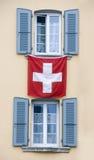 schweiziska fönster Royaltyfria Foton