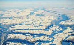 Schweiziska fjällängar från himlen Royaltyfri Fotografi