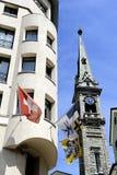 Schweiziska flaggor Royaltyfri Foto