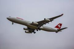 Schweiziska flygbolag fotografering för bildbyråer