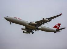 Schweiziska flygbolag royaltyfri foto