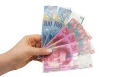 schweiziska francs Royaltyfria Foton