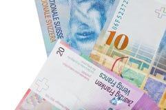 schweiziska francs Arkivfoto