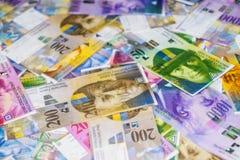 schweiziska francs royaltyfri foto
