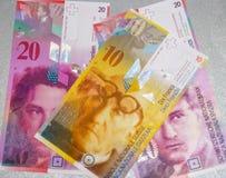 schweiziska francs Fotografering för Bildbyråer