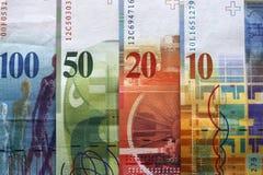 schweiziska francs Arkivbild