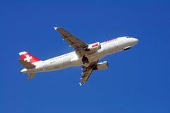 Schweiziska internationella flygbolag A320 Fotografering för Bildbyråer