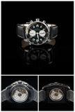 Schweiziska klockor på svart bakgrund Royaltyfri Fotografi