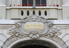 Schweiziska National Bank Royaltyfri Bild