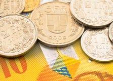 Schweiziska pengar. arkivbilder