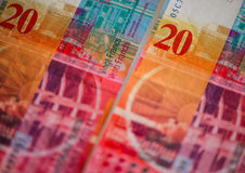 Schweiziska pengar royaltyfria bilder