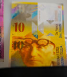 Schweiziska pengar arkivfoton