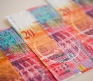 Schweiziska pengar arkivbild