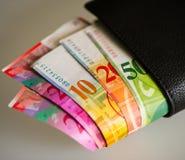 Schweiziska pengar royaltyfria foton