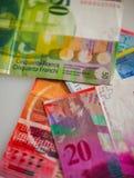 Schweiziska pengar fotografering för bildbyråer