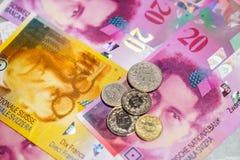 Schweiziska pengar arkivbilder