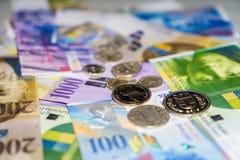 Schweiziska pengar royaltyfri fotografi