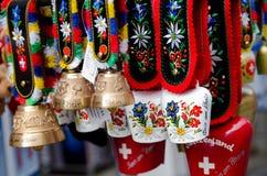 Schweiziska souvenir royaltyfria bilder