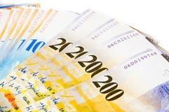 schweiziska valutafrancs Royaltyfri Fotografi