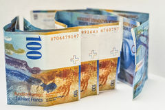 Schweiziska valutapengar royaltyfria bilder
