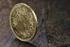 Schweiziskt guld- mynt 02 Arkivbild