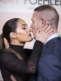 Schwelen Nikki Bella und John Cena Stockfotografie
