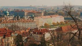 Schwenk Mala Strana Districts in Prag stock video footage