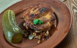 Schwenker. Marinated pork neck steak Saarland.German cuisine Royalty Free Stock Photos
