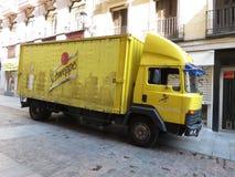 Schweppes bestelwagen Stock Foto's
