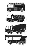 Schwere Fahrzeuge für unterschiedliche Arbeit Stockfotos