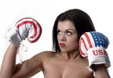 Schwere Frauen Stockfoto