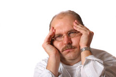 Schwere Kopfschmerzen Stockfotos