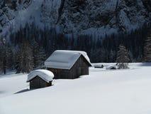 Schwere Schneefälle Stockfotos