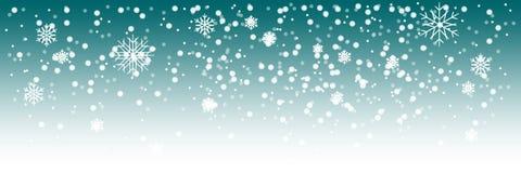 Schwere Schneefälle des Vektors, Hintergrund Weiße Schneeflocken, die in die Luft fliegen Schnee blättert Konzept ab vektor abbildung