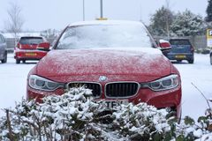 Schwere Schneefälle in Großbritannien Stockfotos