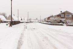 Schwere Schneefälle im Vereinigten Königreich stockbild