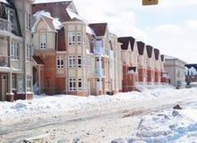 Schwere Schneefälle in Toronto 8. März 2008 stockfotos