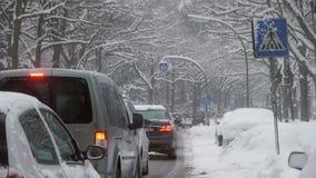 Schwere Schneefall-See-Effekt-Schnee stock video