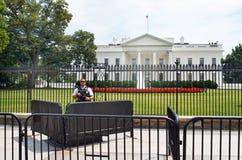 Schwere Sicherheit des Weißen Hauses Vereinigter Staaten am 17. Juli 2017 Lizenzfreie Stockfotos