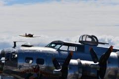 Schwerer Bomber B-17G Fliegender Festung lizenzfreies stockfoto