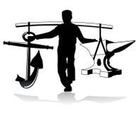 Schwerer gewichtiger Träger Stockfoto